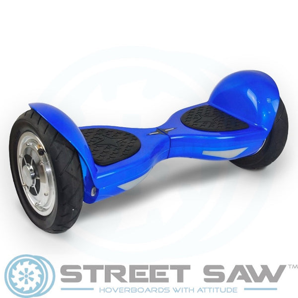 10-Inch Hoverboard with Bluetooth & Mobile App in Blue by StreetSaw