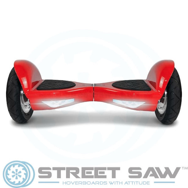 10-Inch Hoverboard with Bluetooth & Mobile App in Red by StreetSaw