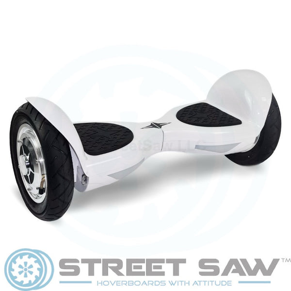 10-Inch Hoverboard with Bluetooth & Mobile App in White by StreetSaw