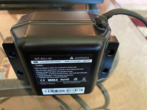 Image of 25.9v Lithium Ion Battery Pack (4000Ah) - Model WP-BSJ-09 (103.6wh)