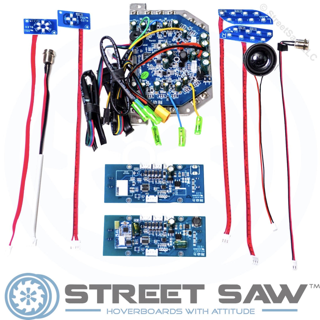 hoverboard circuit board replacement kit 11pc blue pcb chip boardsblue hoverboard circuit board replacement tap to expand