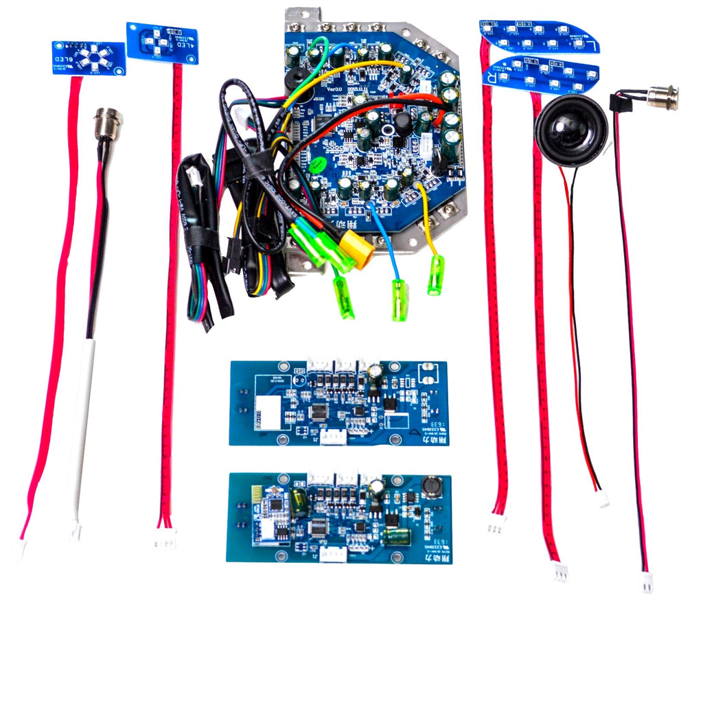 Hoverboard Circuit Board Replacement Parts Kit + Bluetooth (Blue, Narrow Clip)