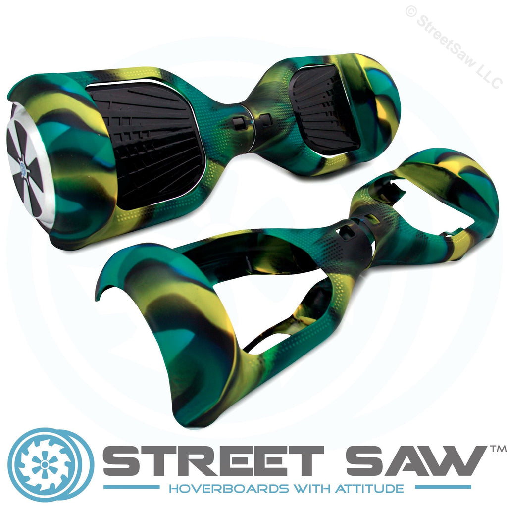 Hoverboard Silicone Cover Rubber Green/Yellow