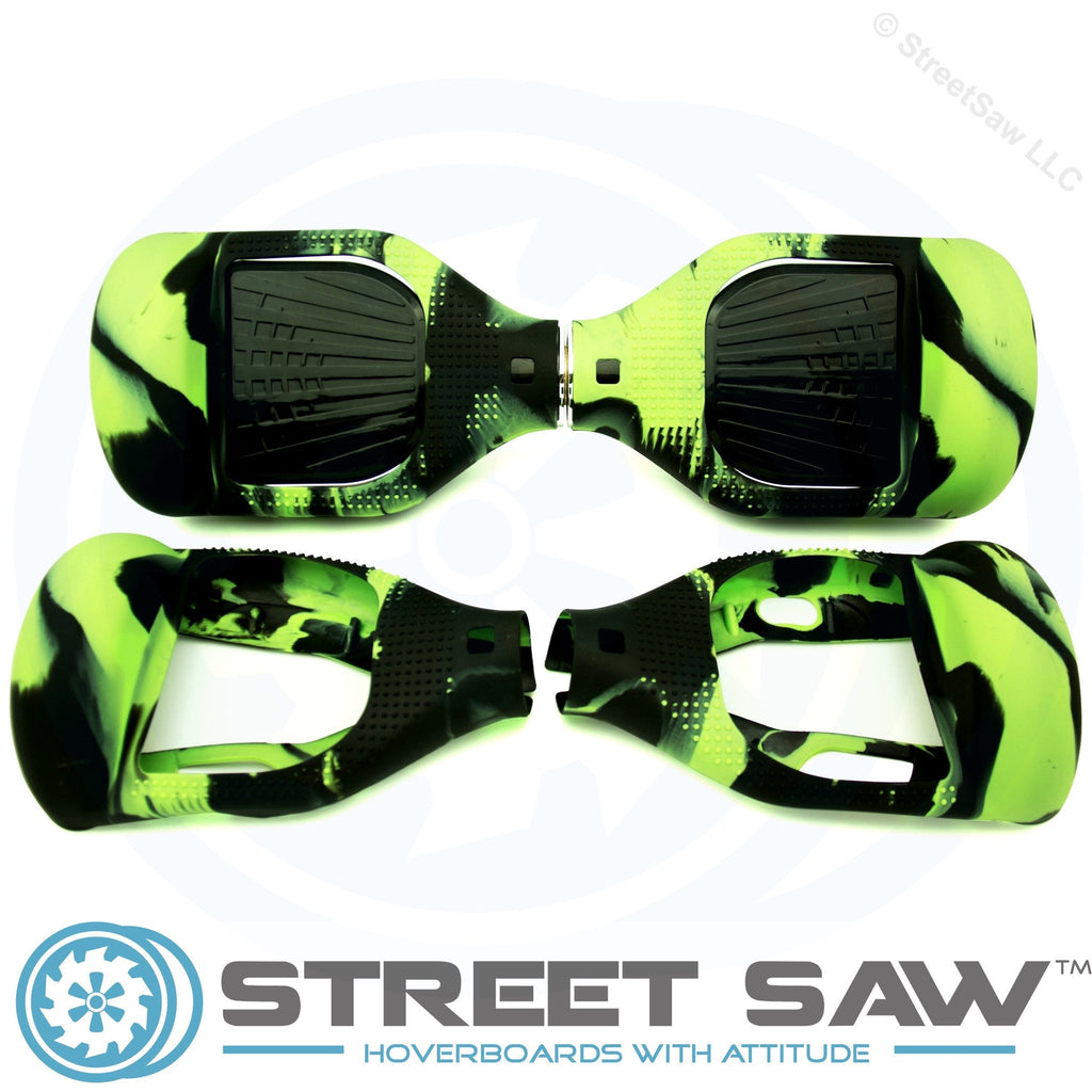 Hoverboard Silicone Cover Rubber Green/Black