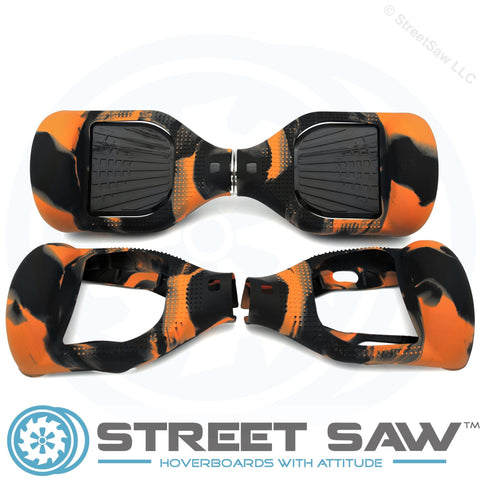 Hoverboard Silicone Cover Rubber Orange/Black