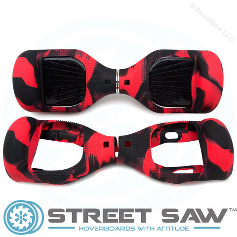 Image of Hoverboard Silicone Cover Rubber Red/Black