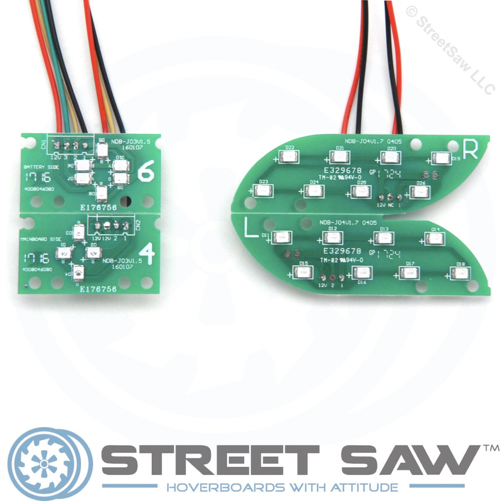 Hoverboard Circuit Board Replacement Parts Kit + Bluetooth (Green, Narrow Clip)