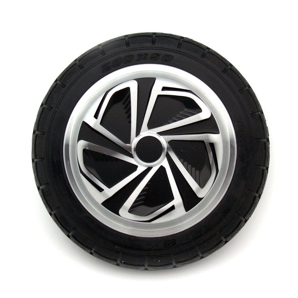 Replacement Wheel, Motor, & Tire for 8 Inch Hoverboards (Black Motor Connectors)