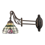 Mix-N-Match 1-Light Swingarm Sconce In Tiffany Bronze