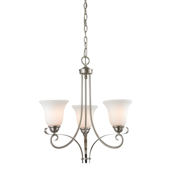 Brighton 3 Light Chandelier In Brushed Nickel
