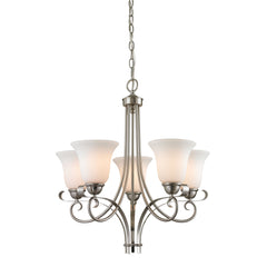 Brighton 5 Light Chandelier In Brushed Nickel