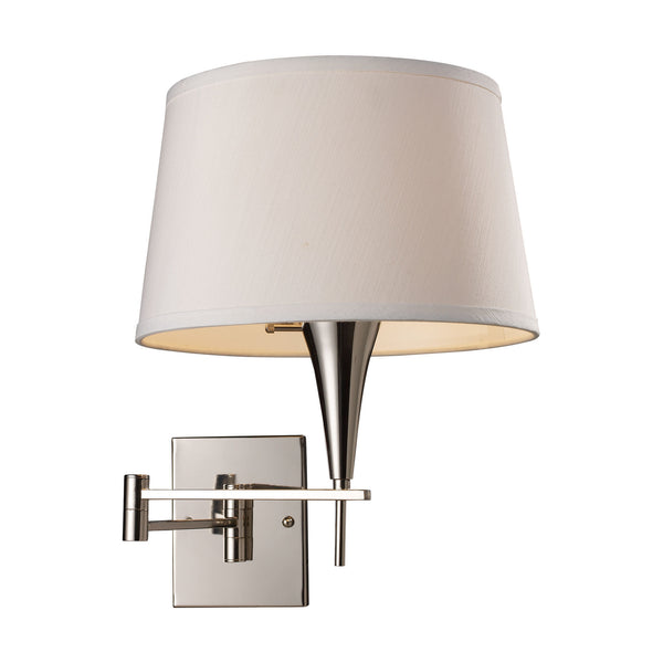 Swingarm 1-Light Sconce In Polished Chrome