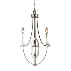 Dione 3-Light Chandelier In Polished Nickel