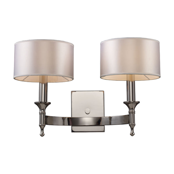 Pembroke 2-Light Sconce In Polished Nickel