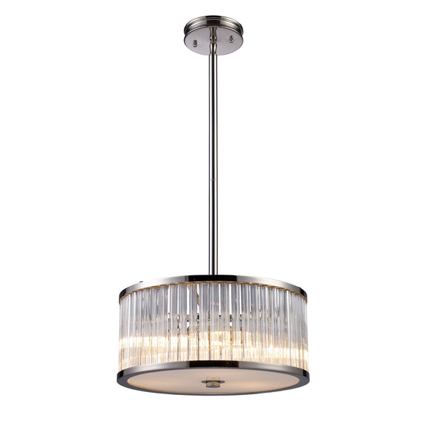 Braxton 3-Light Pendant In Polished Nickel
