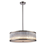 Braxton 5-Light Pendant In Polished Nickel