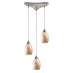 Capri 3-Light Pendants In Satin Nickel