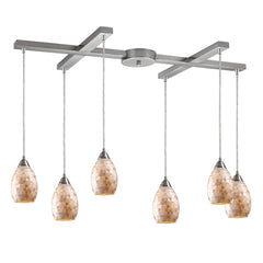 Capri 6-Light Pendant In Satin Nickel