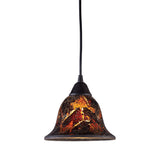Firestorm 1 Light Pendant In Dark Rust