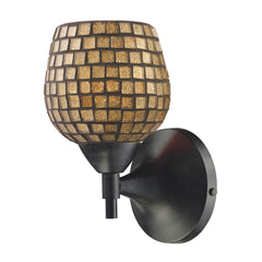 Celina 1-Light Sconce In Dark Rust w/ Gold Glass