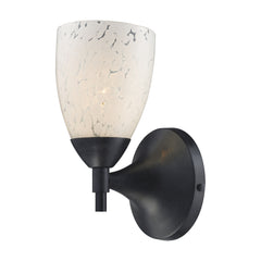 Celina 1-Light Sconce In Dark Rust & Snow White Glass
