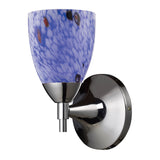 Celina 1-Light Sconce In Polished Chrome & Starburst Blue Glass