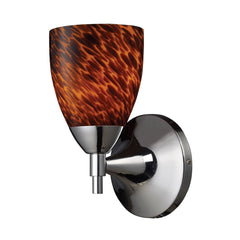 Celina 1-Light Sconce In Polished Chrome & Espresso Glass