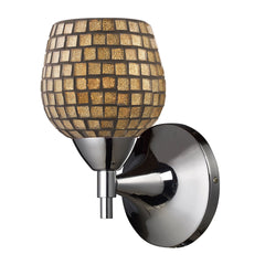 Celina 1-Light Sconce In Polished Chrome & Gold Glass