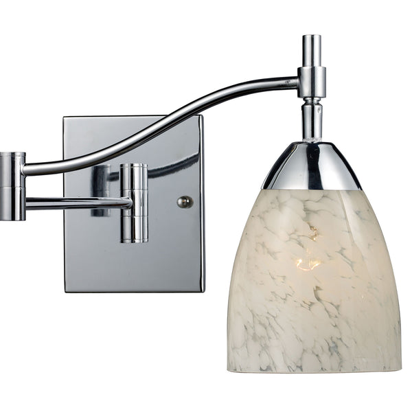 Celina 1-Light Swingarm Sconce In Polished Chrome