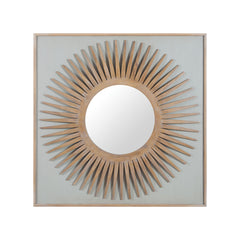 Artisan Dark Stain Manor Starburst Mirror