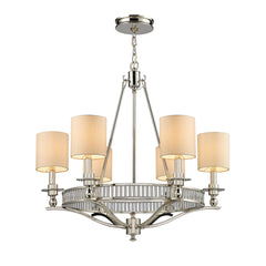 Braxton 6-Light Chandelier In Polished Nickel