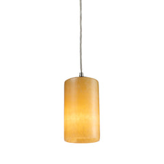 Coletta 1-Light Genuine Stone Pendant In Satin Nickel