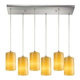 Coletta 6 Light Pendant In Satin Nickel