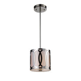 Anastasia 1-Light Pendant In Polished Nickel