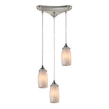 Favelita 3 Light Pendant In Satin Nickel