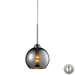 Cassandra 1 Light Pendant In Polished ChromeWith Adapter Kit