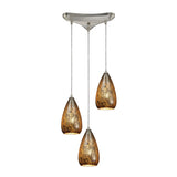 Karma 3 Light Pendant In Satin Nickel