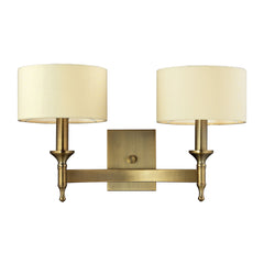 2- Light Wall Sconce In Antique Brass