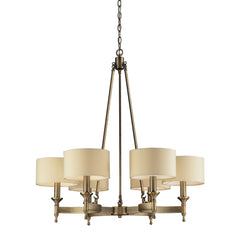 6- Light Chandelier In Antique Brass