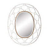 "Gold Manse Metal Frame Mirror - 48""x38"""