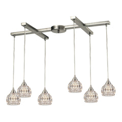 Kersey Collection 6 light chandelier in Satin Nickel