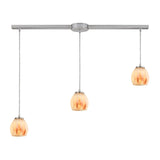 Melony 3 Light Pendant In Satin Nickel