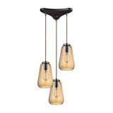 Orbital 3 Light Pendant In Oil Rubbed Bronze