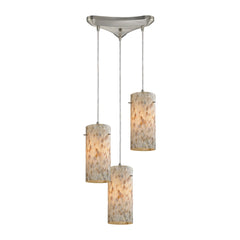 Capri 3 Light Pendant In Satin Nickel