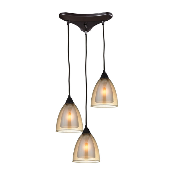 Layers 3 Light Pendant In Oil Rubbed Bronze