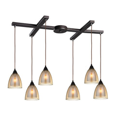 Layers 6 Light Pendant In Oil Rubbed Bronze