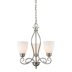 Chatham 3 Light Chandelier In Brushed Nickel