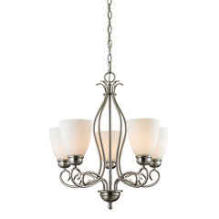 Chatham 5 Light Chandelier In Brushed Nickel