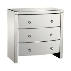 Bow Front Mirror 3 Drawer Chest