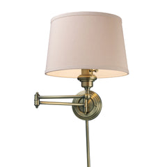 Westbrook 1-Light Swingarm Sconce In Antique Brass